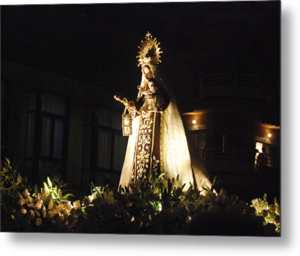Andalusian Procession Metal Print by Perry Van Munster
