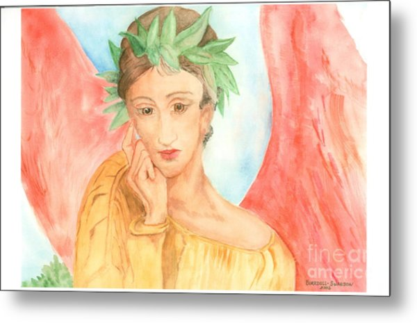 Angel In Thought Metal Print