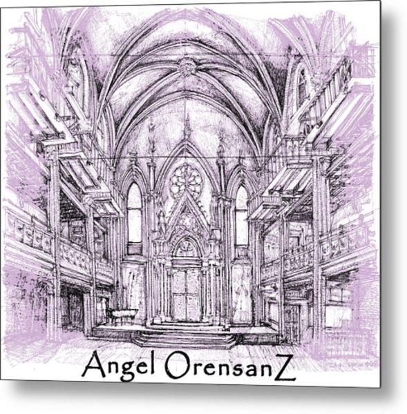 Angel Orensanz In Lilac  Metal Print