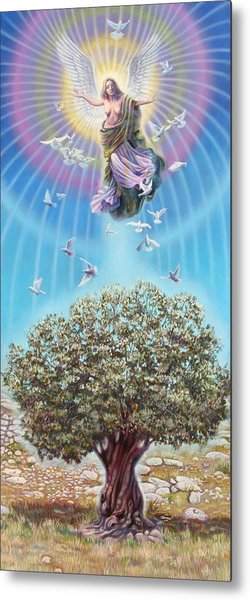Angel Over The Olive Tree Metal Print by Miguel Tio