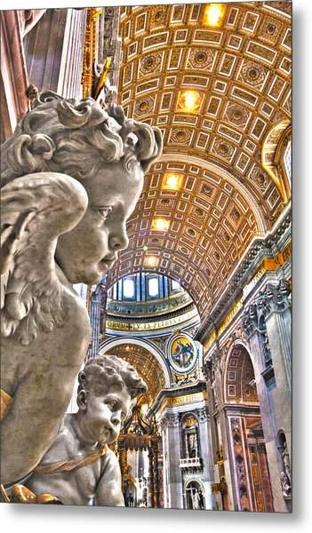Angels At The Vatican Metal Print