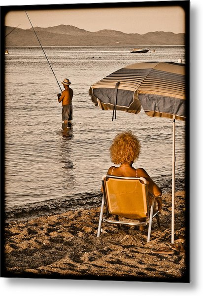 Hanioti, Greece - Another Day In Paradise Metal Print