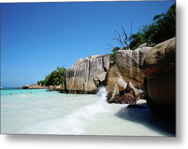 Anse Lazio Metal Print by Dhmig Photography