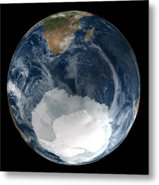 Antarctic Ice Sheet Maximum, 2005 Metal Print by Nsidcnasa