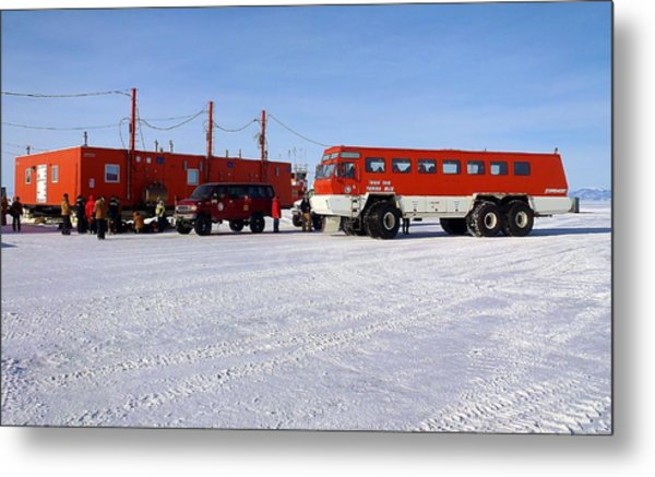 Antarctic Tundra Bus Metal Print by David Barringhaus