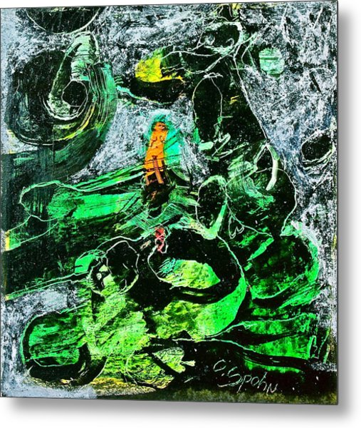 Antibodies In Another Green World Metal Print by Cliff Spohn