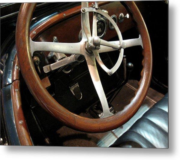 Antique Car Close-up 009 Metal Print