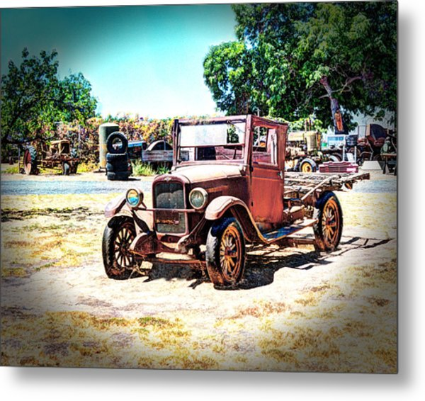 Antique Chevy Truck Metal Print