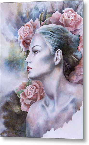 Antique Rose Metal Print by Tanya Jacobsz