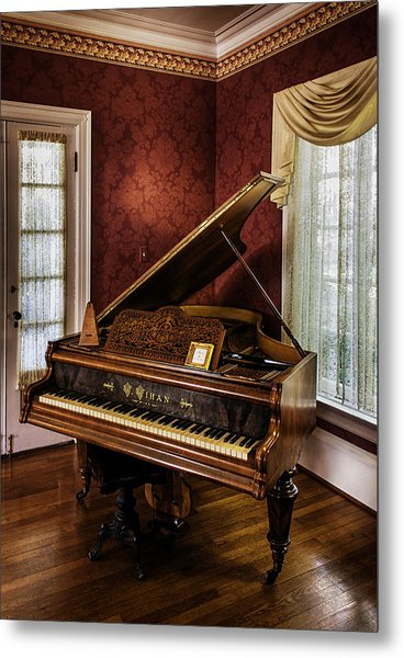 Antique Wein Grand Piano Metal Print