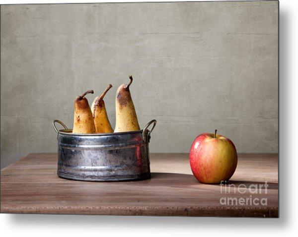 Apple And Pears 01 Metal Print