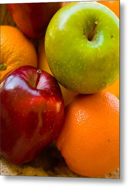 Apples And Oranges Metal Print