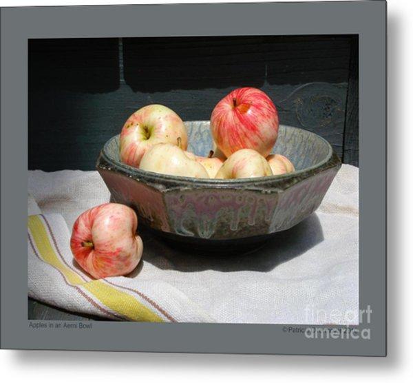 Apples In An Aerni Bowl Metal Print