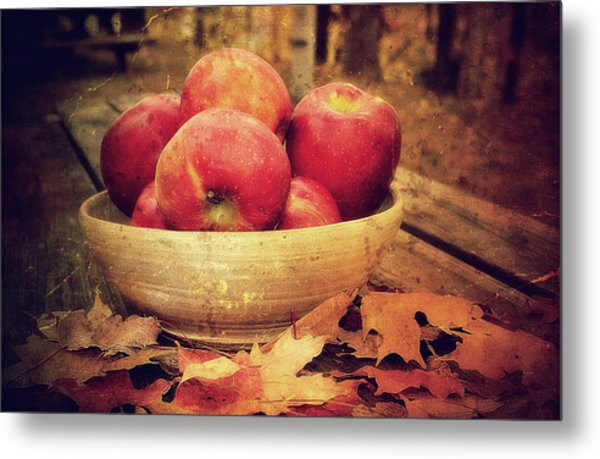 Apples Metal Print by Kathy Jennings