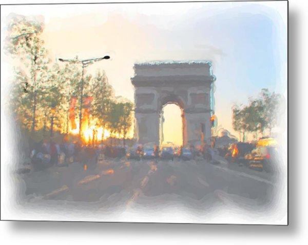 Arc De Triomphe I Metal Print by Thomas Frias