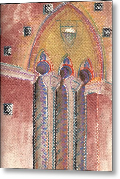 Arch In Italy Watercolor Metal Print
