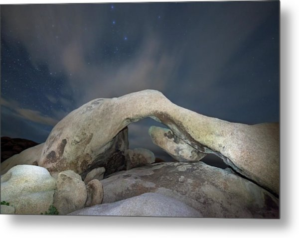 Arch Rock With Stars, Joshua Tree National Park Metal Print by Daniel Osterkamp