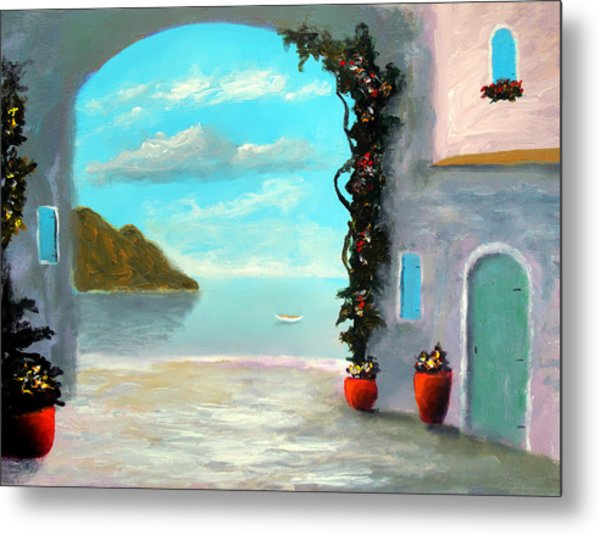 Arch To The Sea Metal Print