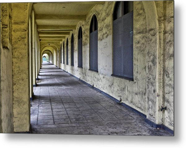 Arched Windows And Wall Metal Print