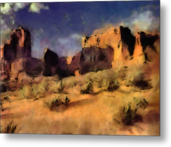 Arches National Monument-utah Metal Print by Elaine Frink