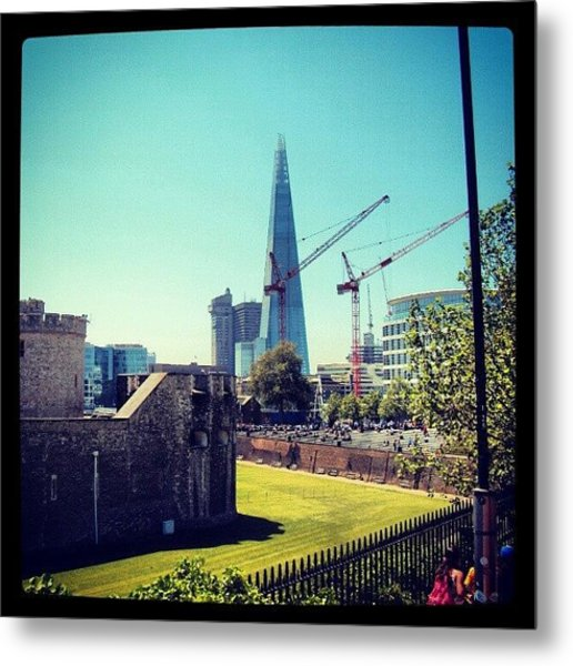 #architecture #london #uk #sky Metal Print