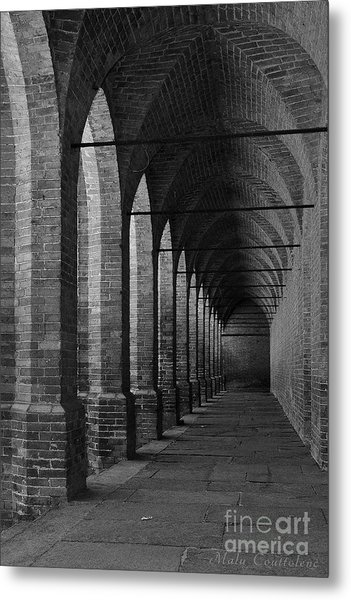 Archs At Lagenzia Pollenzo Metal Print by Malu Couttolenc
