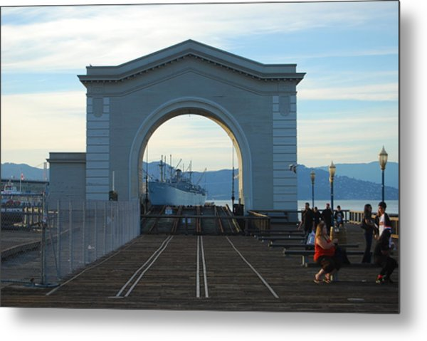 Archway Pier 39 San Francisco Metal Print by Richard Adams