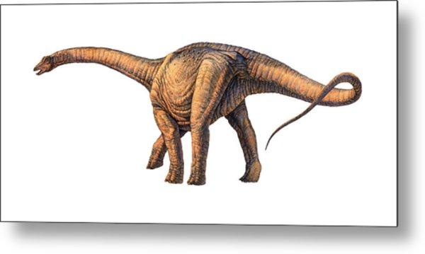 Argentinosaurus Dinosaur Metal Print by Joe Tucciarone