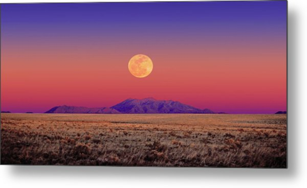 Arizona Full Moon Metal Print