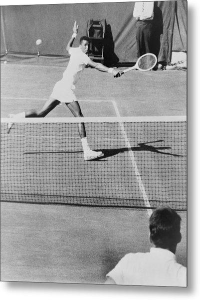 Arthur Ashe, 1943-1993, Playing Tennis Metal Print by Everett