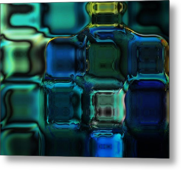 Artisan Glass Metal Print
