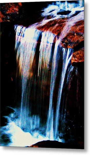 As The Water Falls Metal Print by Hannah Miller