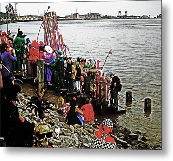 Ashes To Water Mardi Gras Day In New Orleans Metal Print