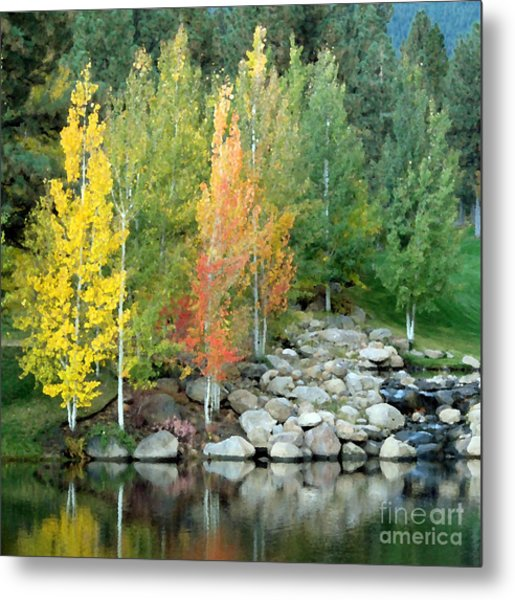 Aspen At Montreux Metal Print