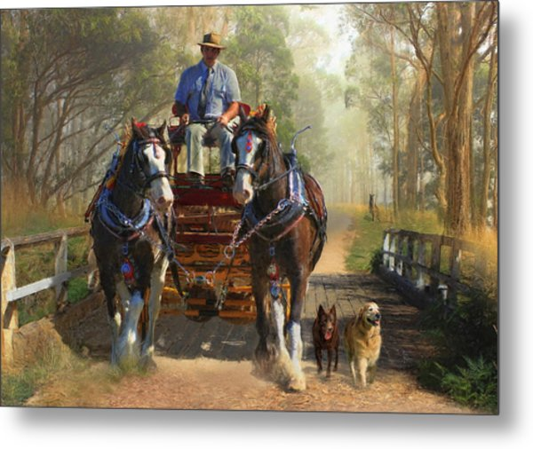 At Durdidwarrah Crossing Metal Print