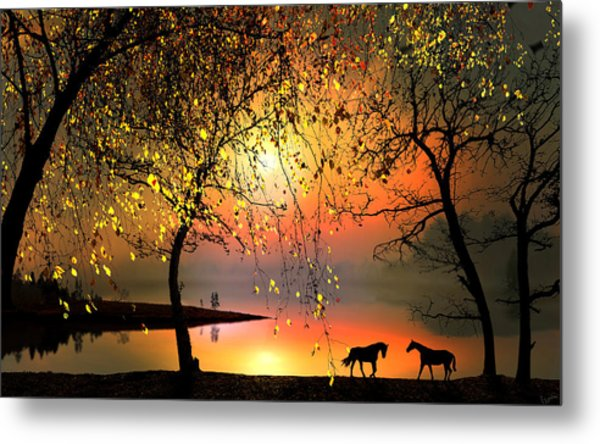 At The Sunset Metal Print by Igor Zenin