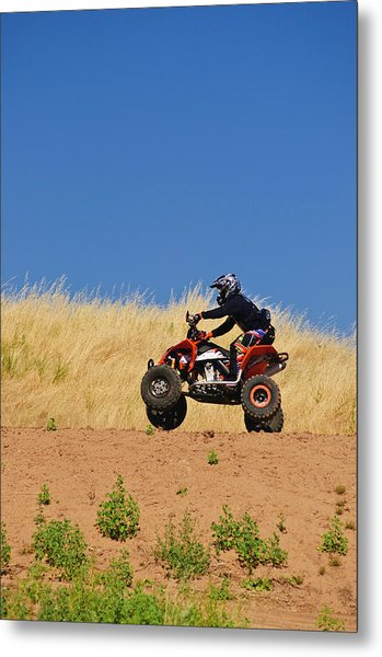 Metal Print featuring the photograph Atv Action by Sherri Meyer