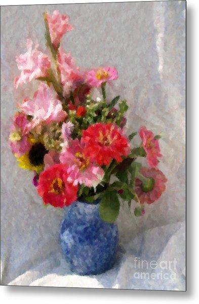 August Bouquet Metal Print