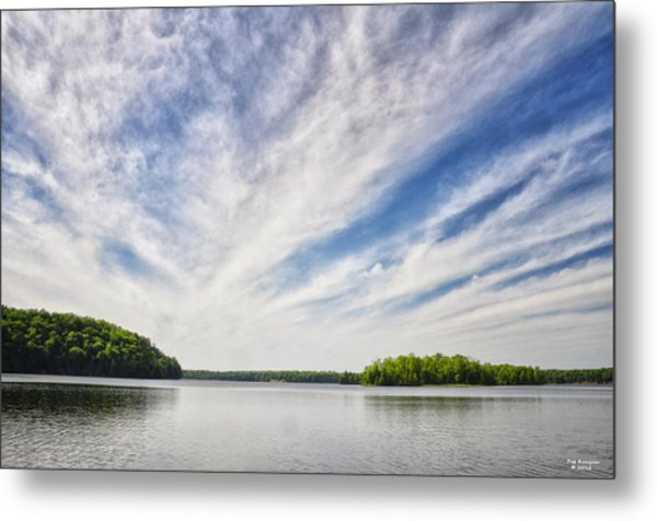 Ausable River On A Summers Day Metal Print