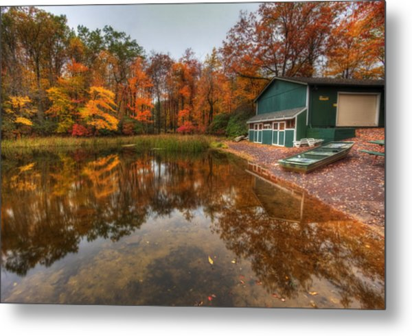 Autumn At Big Boulder Lake Metal Print
