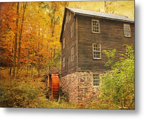 Autumn At Millbrook 4 - The Grist Mill Metal Print