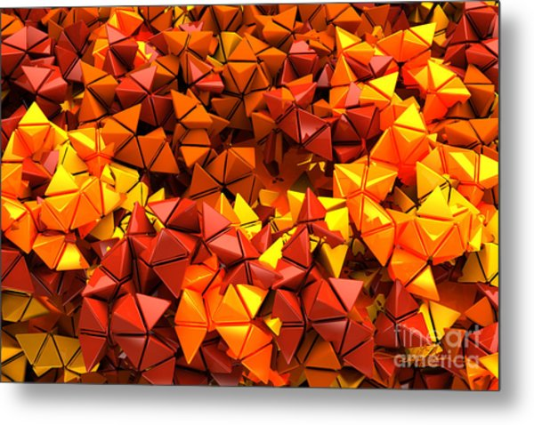 Autumn Hedron 2436 Metal Print