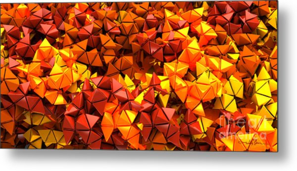 Autumn Hedron 6028 Metal Print