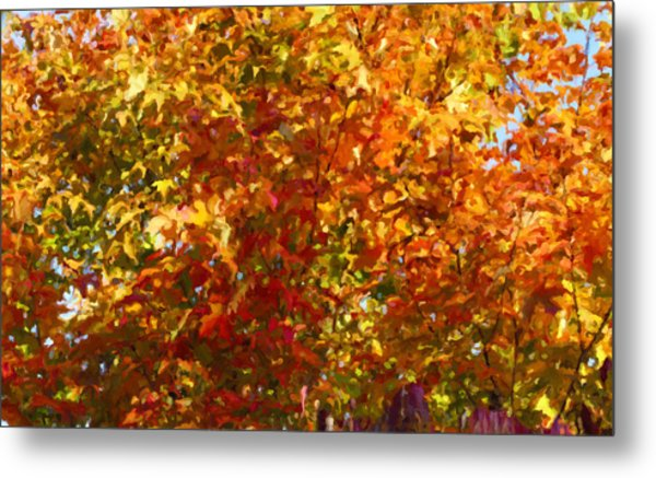 Autumn In October Metal Print by Anthony Rego