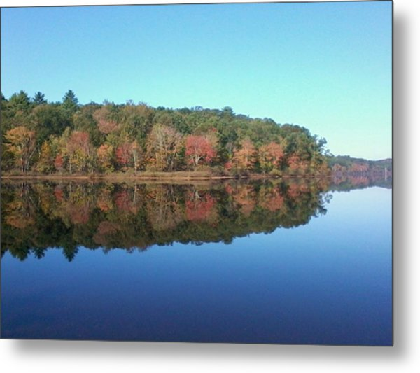 Autumn Mirror Metal Print by Edwin Alverio