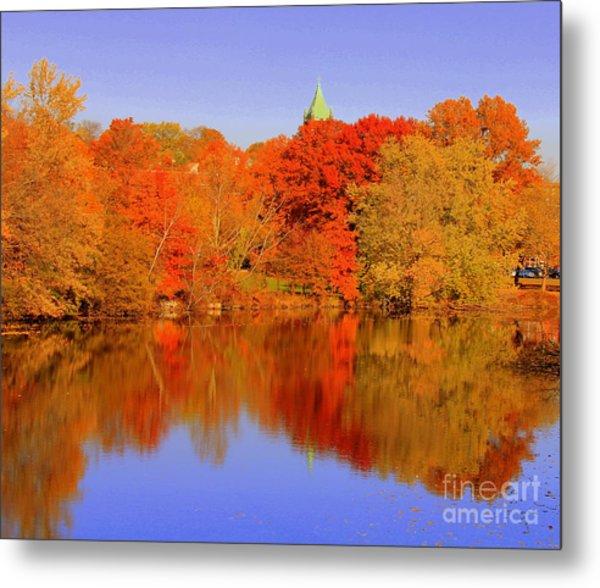 Autumn  On Mystic Lake Metal Print