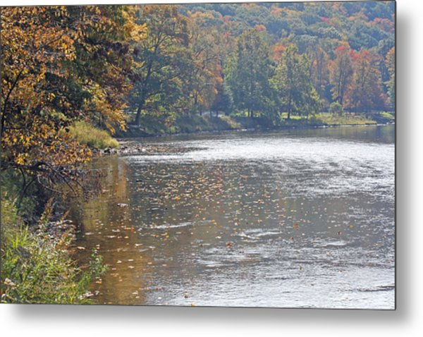 Autumn On The River Metal Print by Darlene Bell