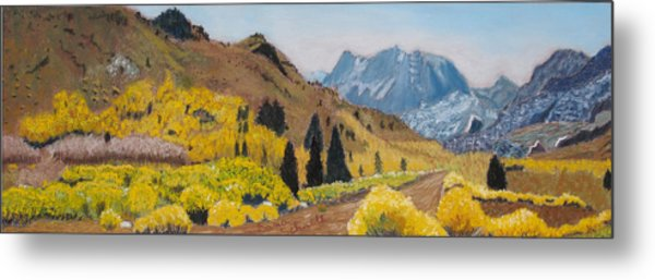 Autumn On The Road Less Traveled Metal Print