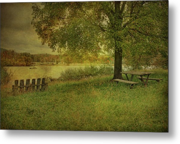 Autumn Picnic Metal Print