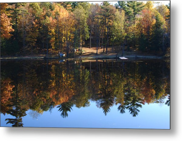 Autumn Reflections Metal Print by Kim French